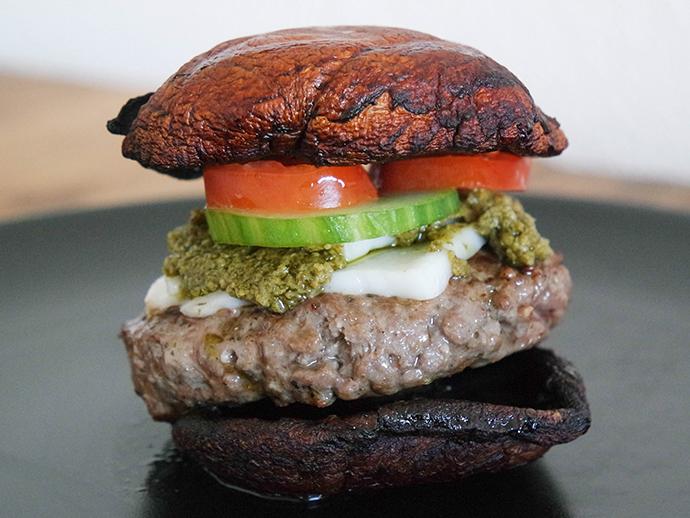 RED REIDING HOOD: Food blogger clean recipe portobello burger healthy dinner gezond recept de voedselzandloper