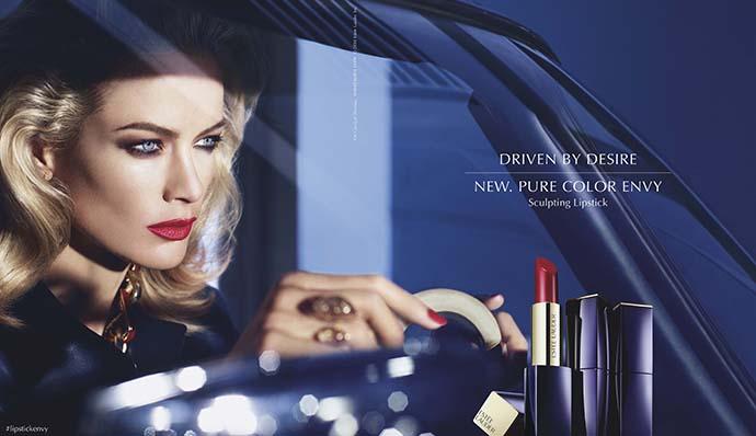RED REIDING HOOD: Estée Lauder Pure Color Envy shine campaign red lipstick