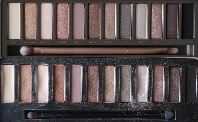 RED REIDING HOOD: Urban Decay naked2 palette versus W7 in the buff palette beauty blogger review