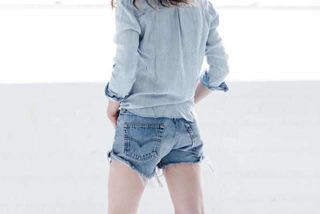 RED REIDING HOOD: Fashion inspiration denim on denim one teaspoon shorts