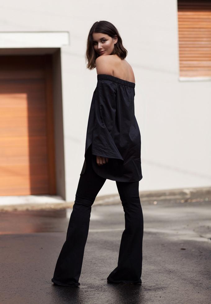 RED REIDING HOOD: Fashion blogger harper & harley wearing off shoulder top trend