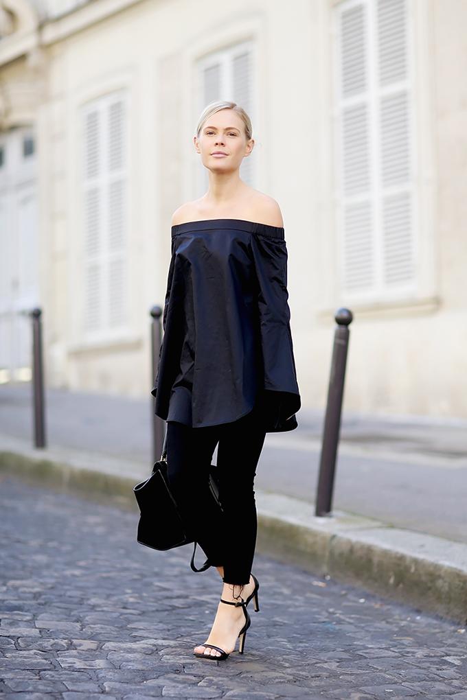 RED REIDING HOOD: Fashion blogger wearing off shoulder top trend