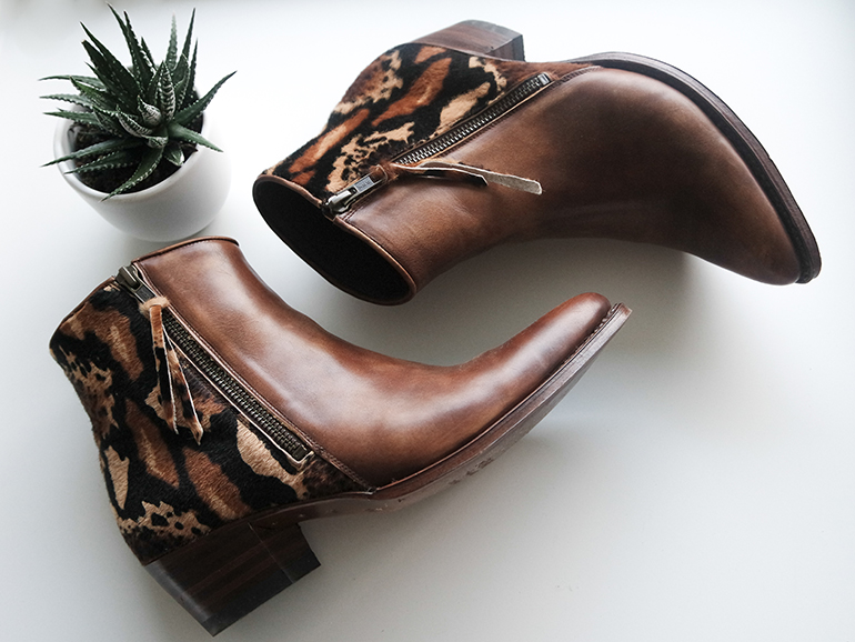 RED REIDING HOOD: Fashion blogger sendra boots western cowboy ankle boots pointy leopard ponyhair