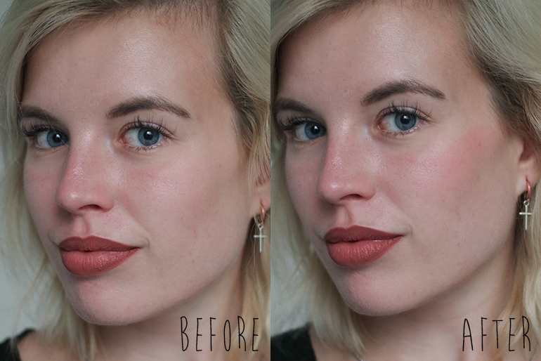 RED REIDING HOOD: Beauty blogger review clinique chubby cheeks 02 robust rhubarb before after application