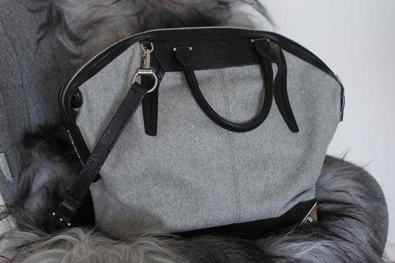 RED REIDING HOOD: Fashion blogger Alexander Wang Emile Tote wool black grey