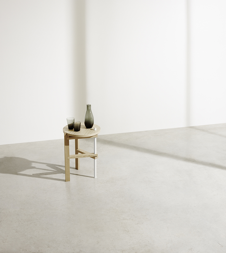 RED REIDING HOOD: Tomas Alonso side table COS x HAY interior