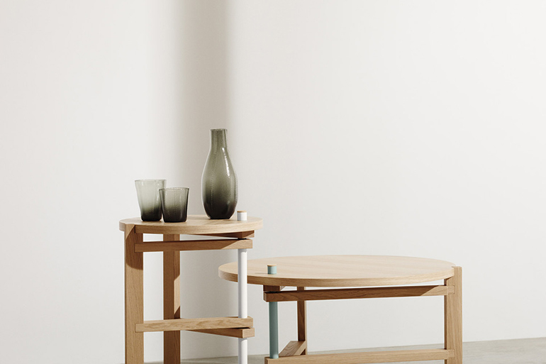 RED REIDING HOOD: COS x HAY collaboration Tomas Alonso side table metal leg