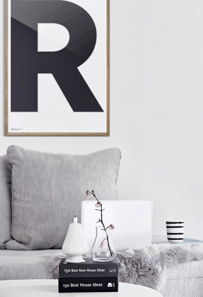 RED REIDING HOOD: Living room interior inspiration playtype letter posters R