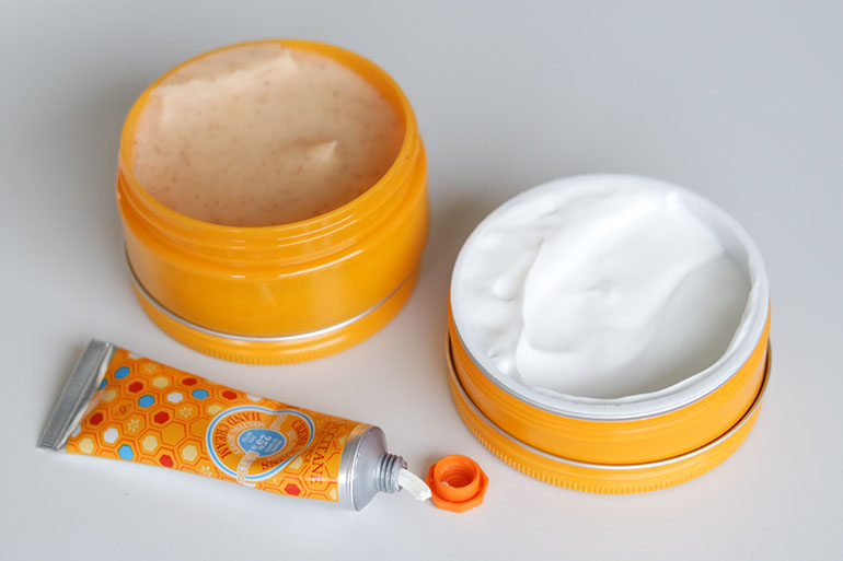 RED REIDING HOOD: L'Occitane shea honey body cream exfoliation hand cream review