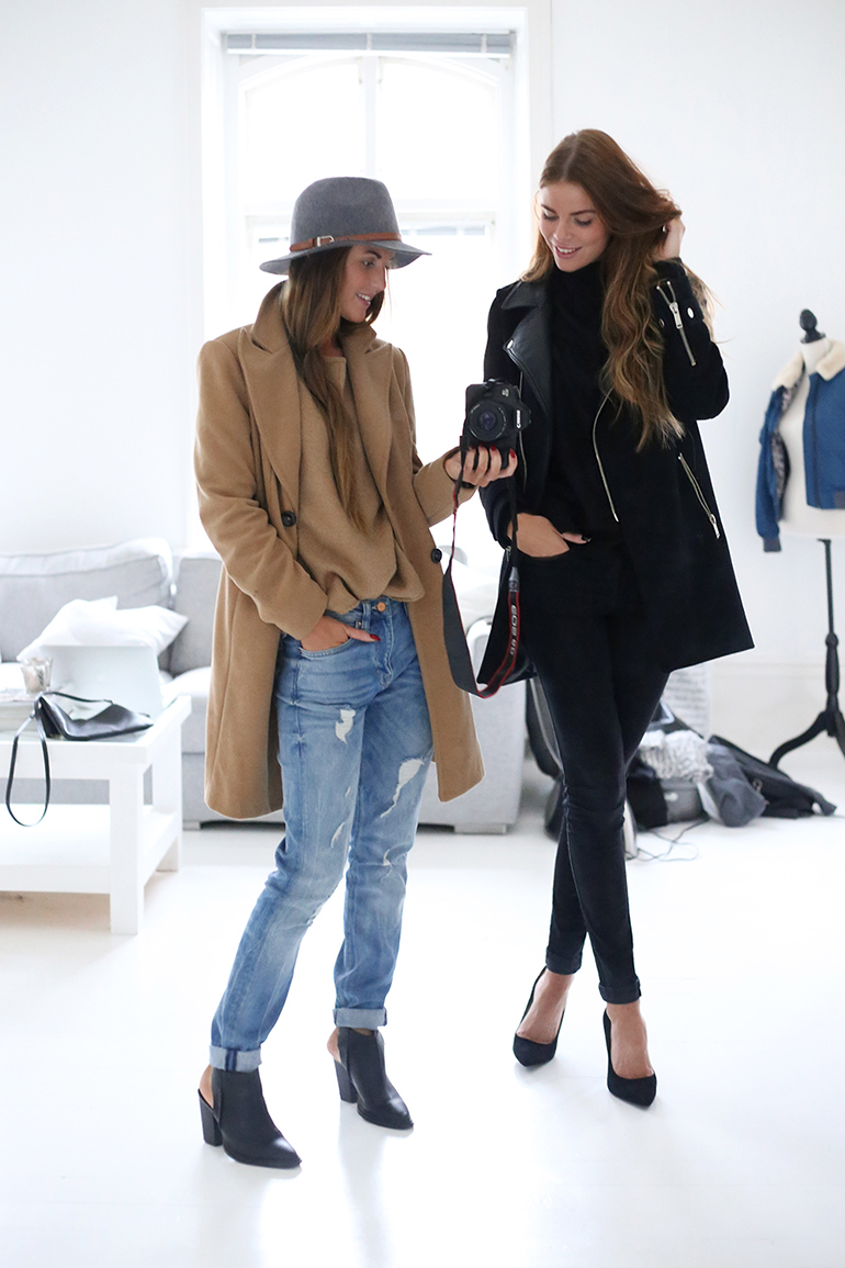 RED REIDING HOOD: Fashion bloggers wearing camel coat blue jeans outfit