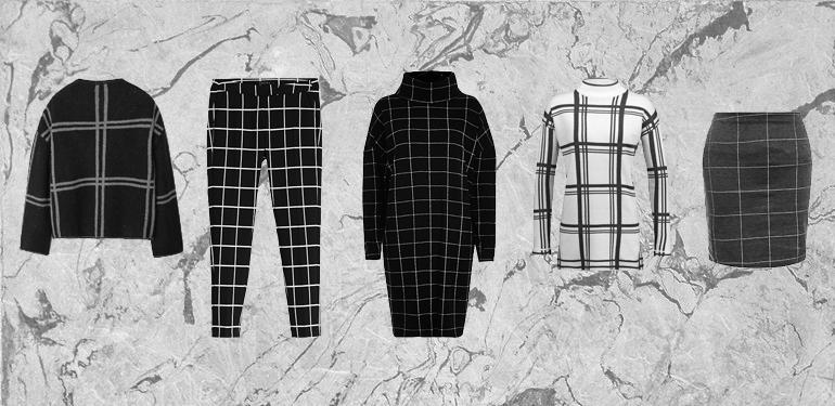 RED REIDING HOOD: Fashion blogger grid check pants dress jumper skirt costes mango river island new look favorites