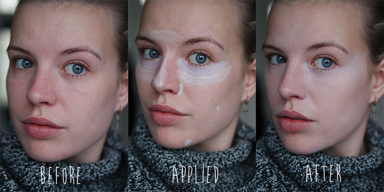 RED REIDING HOOD: Beauty blogger review MUA Pro-Base Prime & Conceal and Prime & Conceal before after photos face look