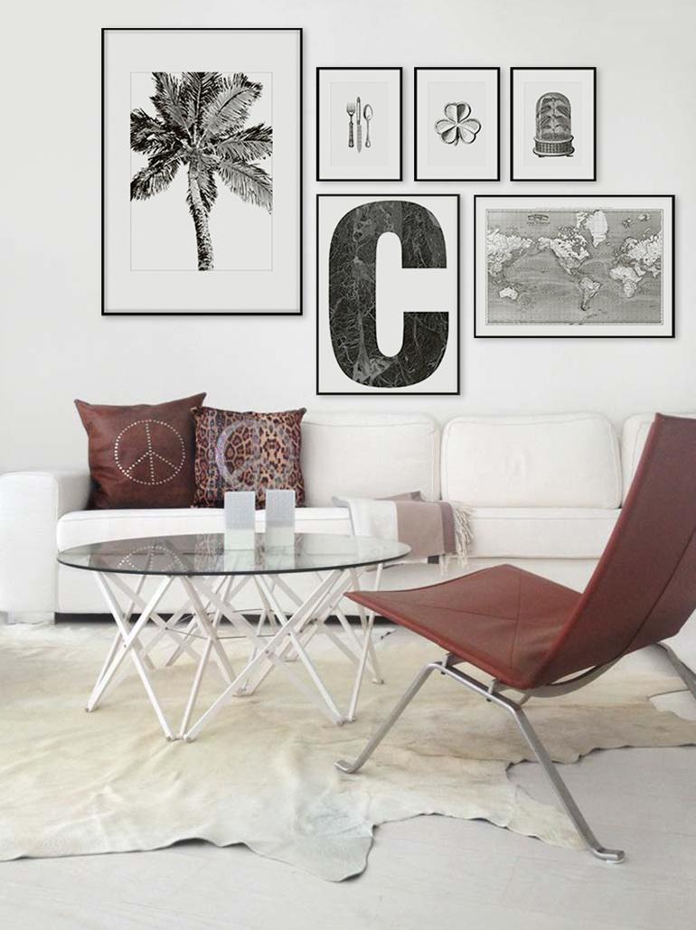 RED REIDING HOOD: Light brown cowhide rug minimal boho interior hippie style