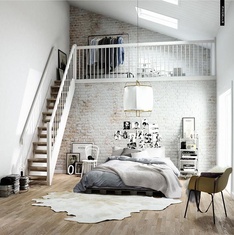 RED REIDING HOOD: Light brown white cowhide rug minimal grey interior scandinavian style