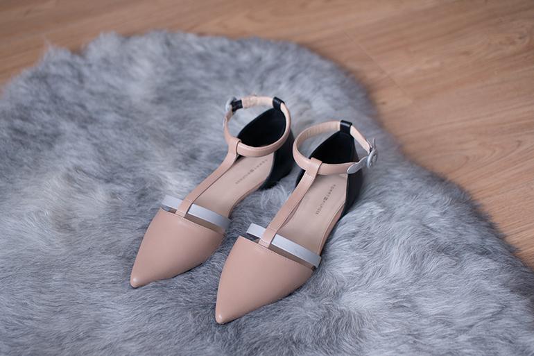 RED REIDING HOOD: Fashion blogger Tommy Hilfiger Lanna pointy flats ballerinas nude beige grey black shoes