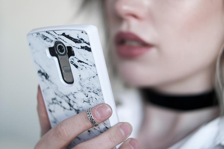 RED REIDING HOOD: Fashion blogger marble smartphone case LG G4 Casimoda review