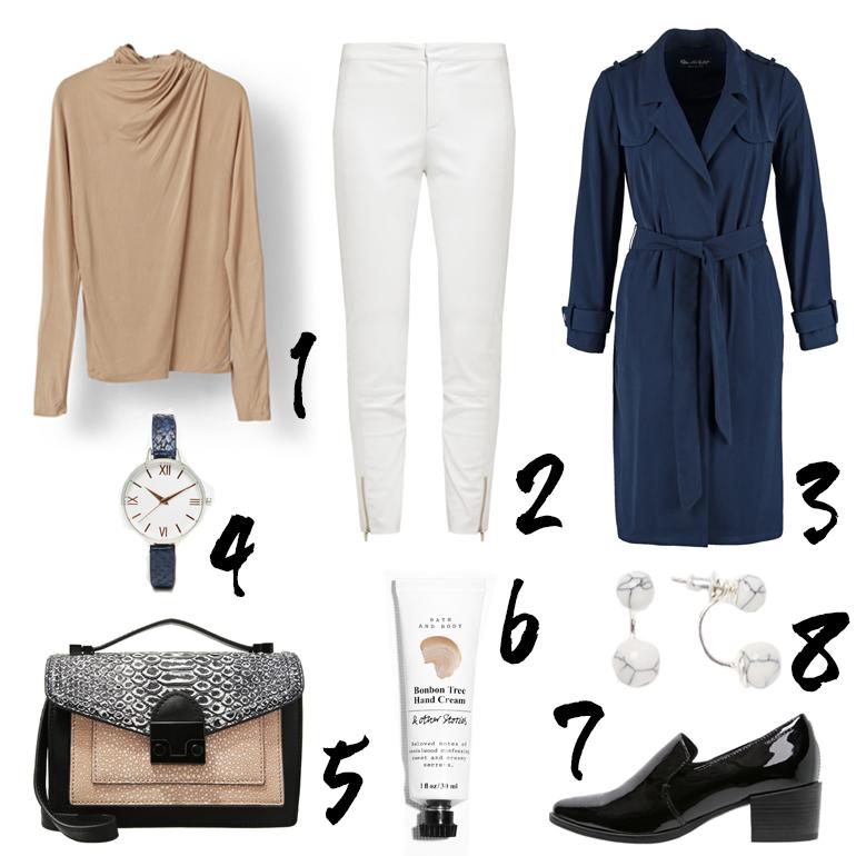 RED REIDING HOOD: Would love to wear beige white blue trench coat miss selfridge asos zalando