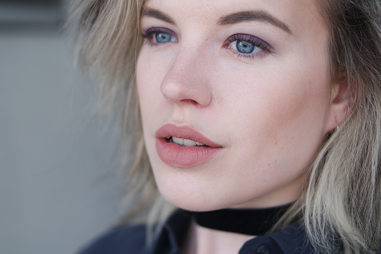 RED REIDING HOOD: wearing & Other Stories Liquid Lipstick Argyle Hazel full face swatch