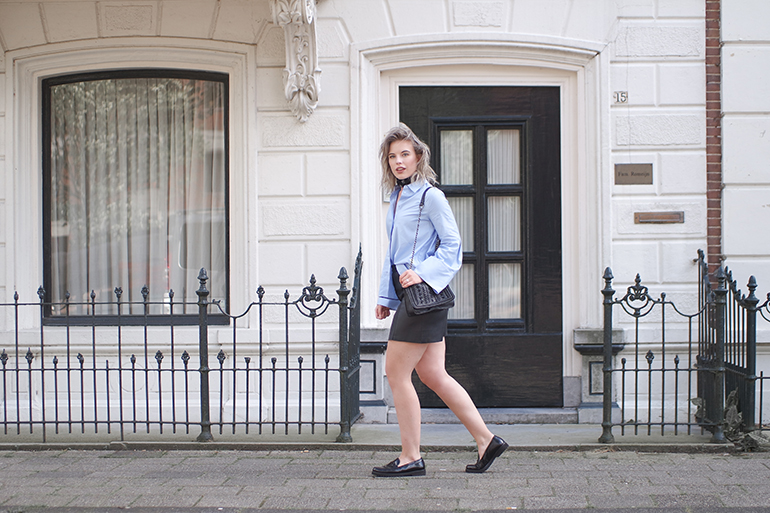 RED REIDING HOOD: Fashion blogger wearing H&M flared sleeves shirt outfit