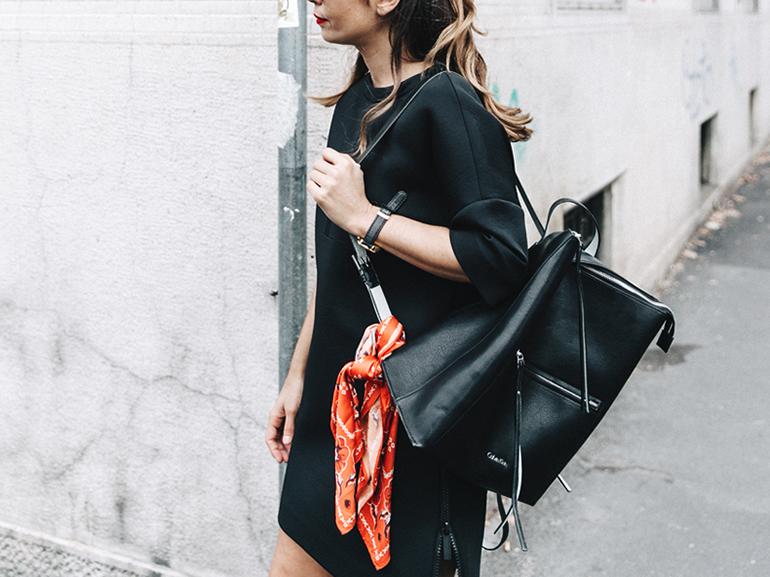 RED REIDING HOOD: Fashion blogger bandana bag paisley scarf collage vintage