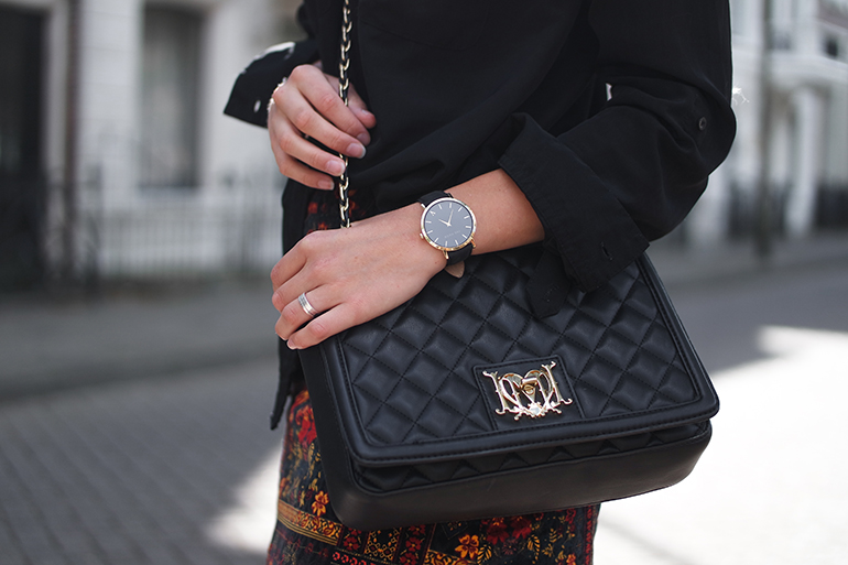 RED REIDING HOOD: Fashion blogger wearing love moschino quilted designer bag outfit details the fifth watch