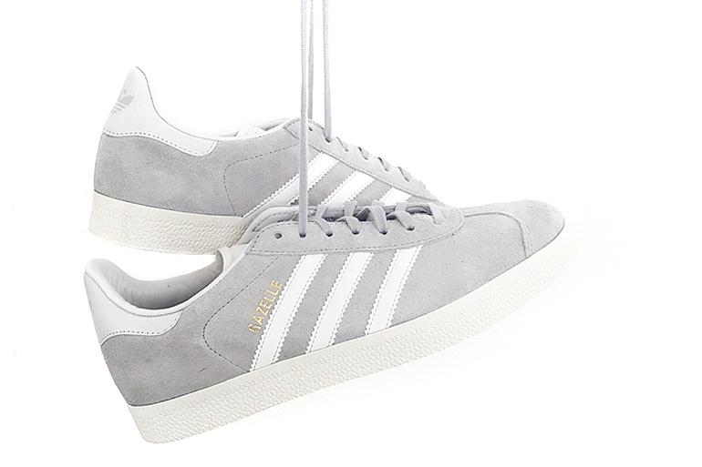 RED REIDING HOOD: Fashion blogger Adidas Gazelle sneakers grey