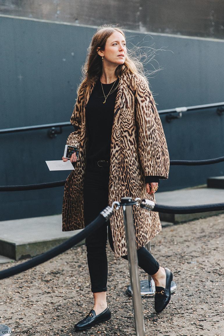 RED REIDING HOOD: Fashion blogger collage vintage leopard print coat street style
