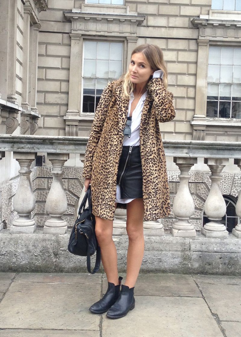 RED REIDING HOOD: Fashion blogger Fashion Me Now Leopard print coat outfit