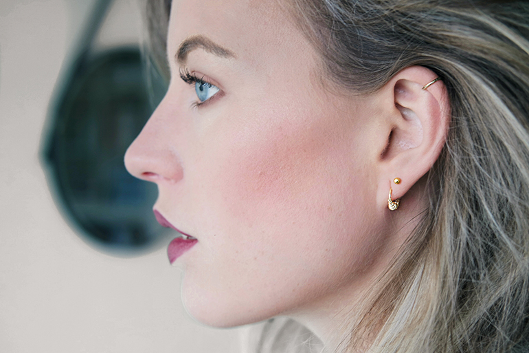 RED REIDING HOOD: Fashion blogger ear party lobe piercings helix piercing