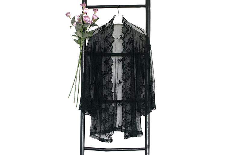 RED REIDING HOOD: Fashion blogger lace kimono Christine le Duc