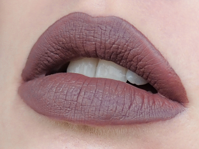 RED REIDING HOOD: Beauty blogger review Gerard Cosmetics Hydra-Matte Lipstick Iced Mocha